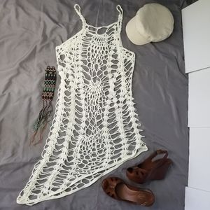 Other - Crocheted cream coverup nearly new